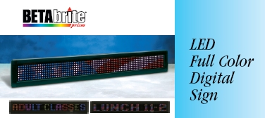 Beta Brite LED Full Color Digital Sign
